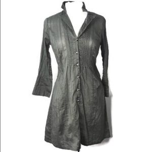 ♡ CABI GOT YOU COVERED JACKET BUTTON GREEN DRESS ♡